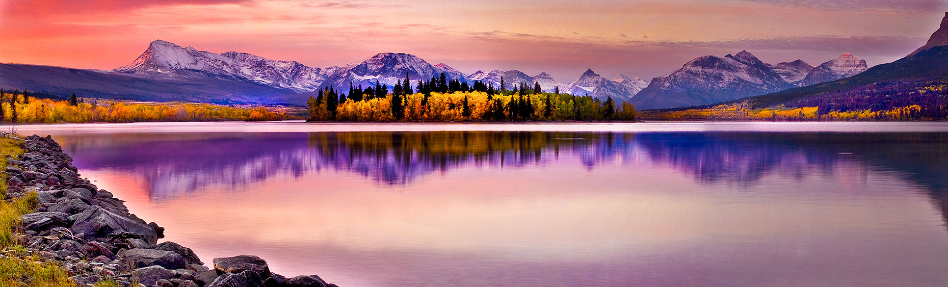 Glacier-Fall-Sunrise-Awakening