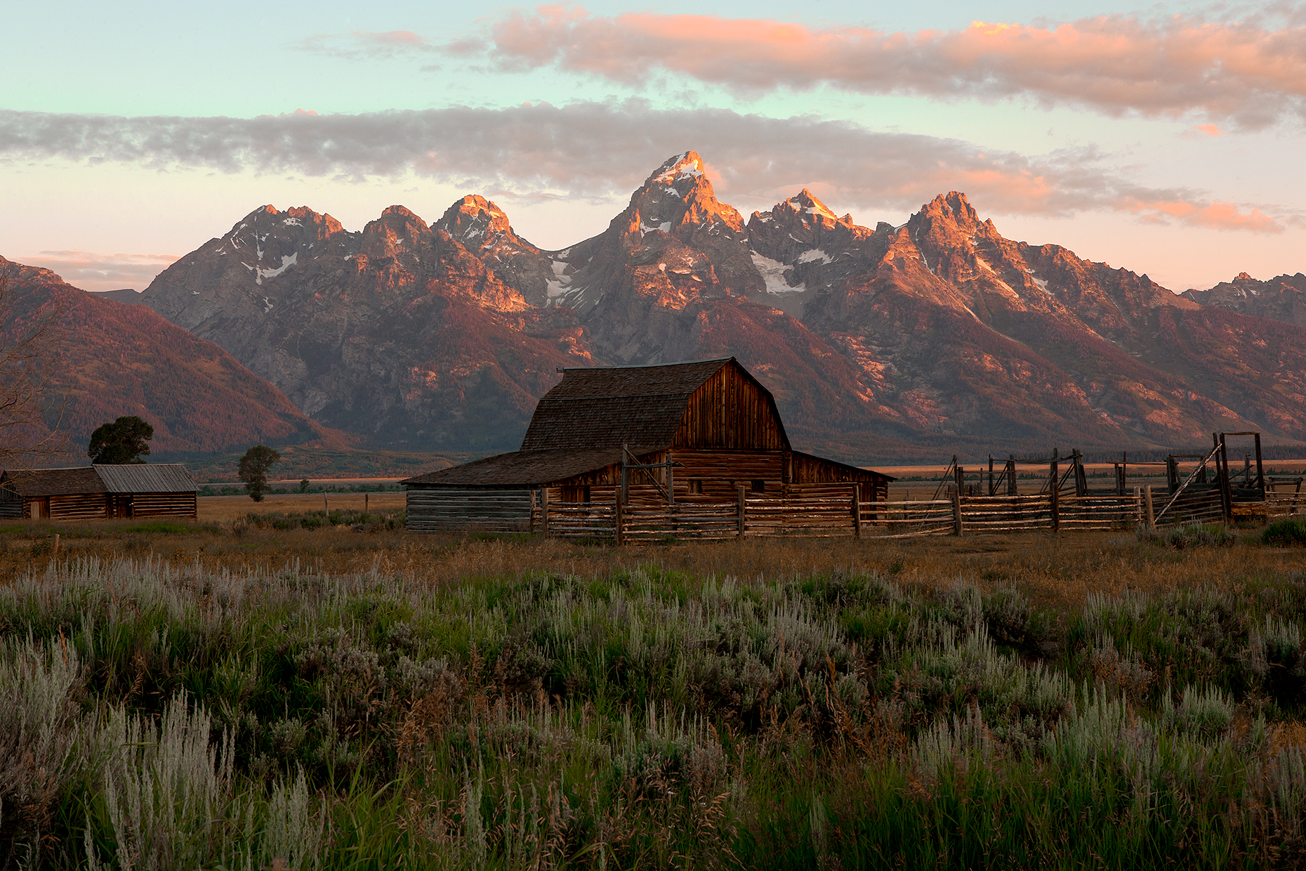 Teton Barn Morning